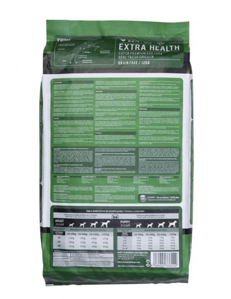 SACO KNINE EXTRA HEALTH- 12 kgs. PARTE TRASERA